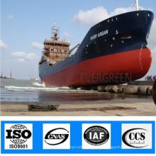 ISO Airbag marino marino de lanzamiento inflable del barco de la nave de la naufragio marino inflable neumática certificada