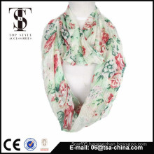 wholesale 100% viscose print scarf with soft handfeelings