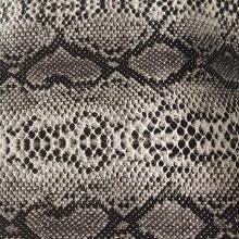 Cuero sintético en relieve de serpiente de PVC para zapatos de dama
