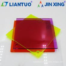 Feuille en plastique de plexiglass de panneau acrylique transparent transparent de 5mm