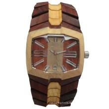 Hlw091 OEM Herren und Damen aus Holz Uhr Bambus Uhr hohe Qualität Armbanduhr
