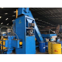 Sistema de prensa briquetadora horizontal de acero, cobre, latón y virutas
