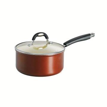 Fornecedor da Amazon Ceramica Coated Sauce Pan, 3-Quart, cobre metálico