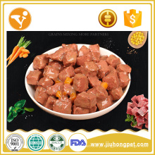 OEM 100% natural comida de lanche para cães comida de cachorro enlatada molhada
