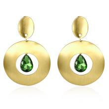 2017 K Gold Earrings Zircon Gold Plated New Design for Women