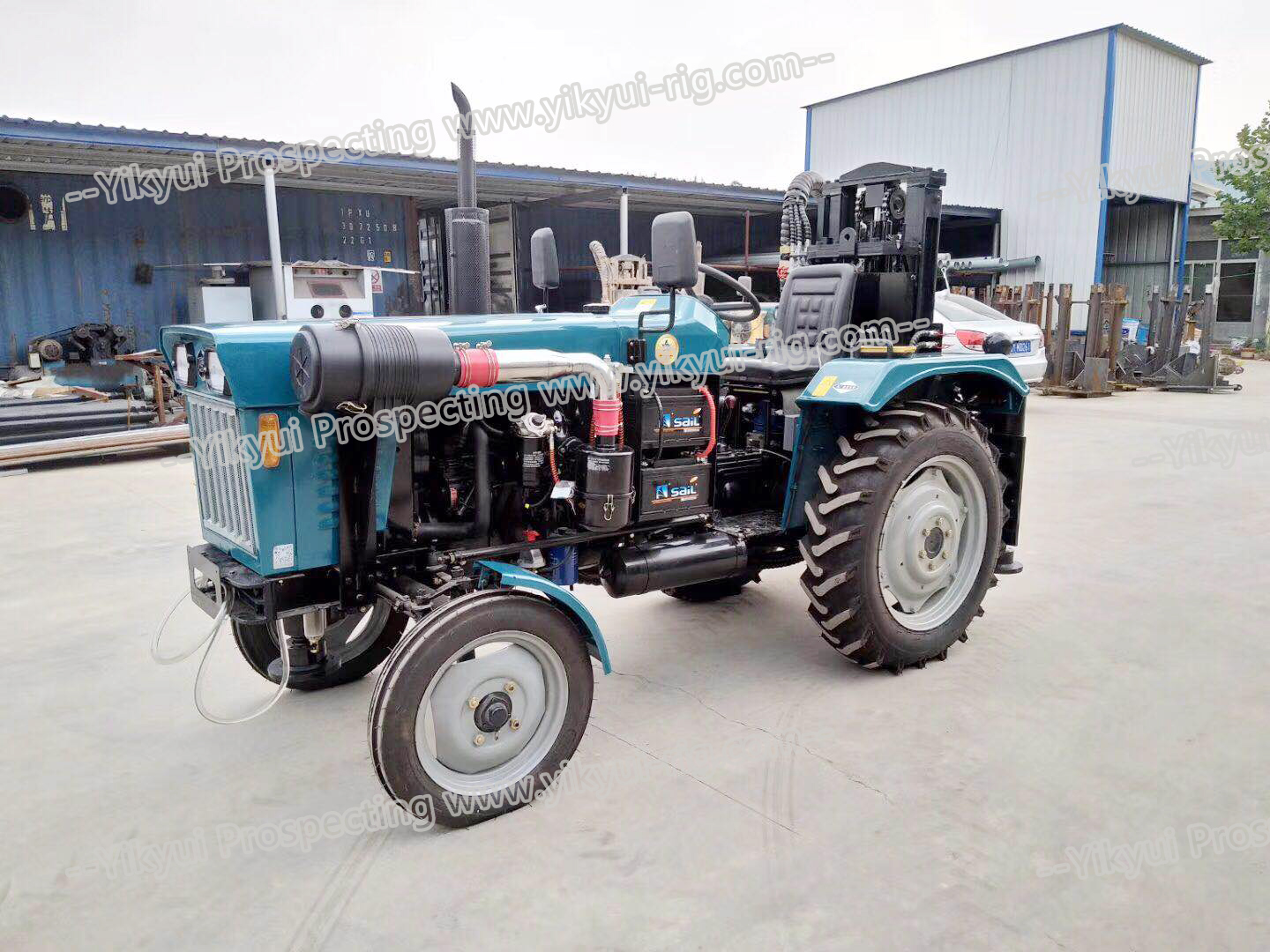 200s 200m portable tractor type water well drilling rig 2