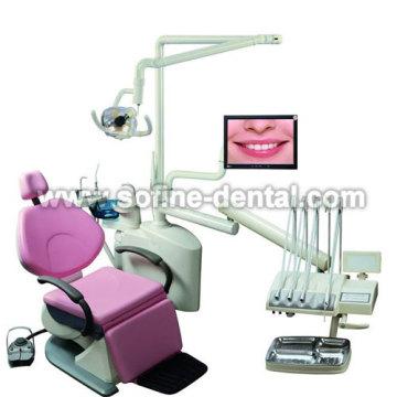 Drei Falten Top montiert Dentaleinheit
