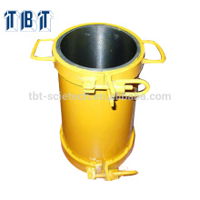 With different color High accuracy Steel 150*300 Cylinder moulds of Concrete testing equipment