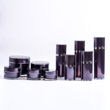 Hot Sale Black Dual Bottles Refillable Airless Pump Bottle with Jars Collection