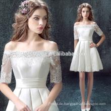 Midi kurzes Miniportkleid-Abschlussball-Kleid-Brautjunfer-Kleid