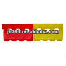 Pllastic water filled safety road barrier