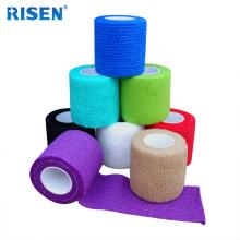 bandagem de tecido elástico de crepe médico fita muscular