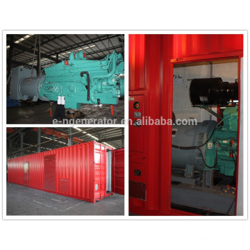 soundproof container 1.4 mw generator with diesel engine with Cummins
