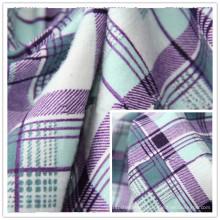 Tissu de flanelle de coton teint par fil 100% coton imprimé pour la vente en gros de vêtement