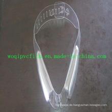 Clear starre PVC-Folie für Bekleidungszubehör Collar Insert