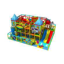 Kundengebundener gemachter Kinderbunter Thema-Design-Innenspielplatz Kp161107
