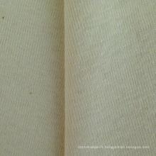 Tissu en tricot à côtes à double fil de chanvre / coton (QF14-1460)
