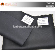 Black and dark navy 10% cashmere coat fabric for fall and winter