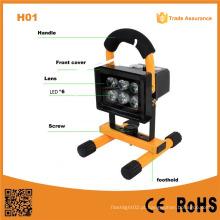 H01 luz de inundação 10W recarregável portátil LED luz ao ar livre