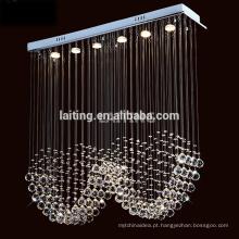Design moderno Retangular Chuva Gota De Fábrica Por Atacado Pequeno Lustre De Cristal Da Lâmpada