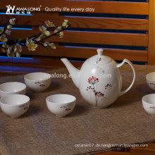7pcs chinesisches Muster-elegantes Entwurfs-feines Knochen-China-Anmut-Porzellan-Tee-Set von China