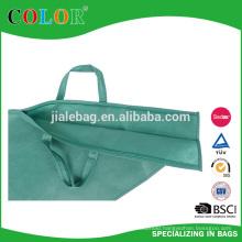 Non Woven green Ham Bag with zipper closure