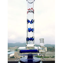 Hot Selling Inline Percolartor Glass Smoking Pipe with Factory Price