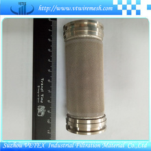 Cilindro de filtro de purificador de aceite de acero inoxidable