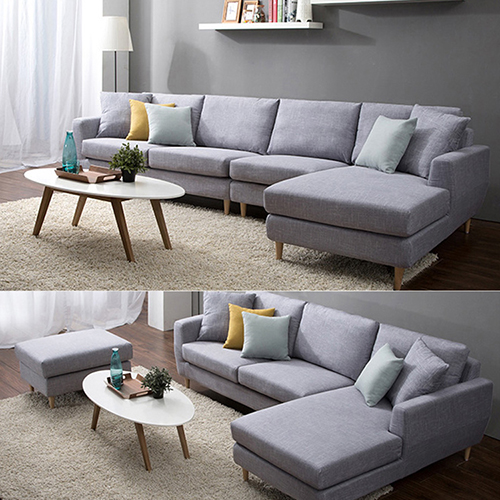 Wooden Fabric Sofa Set