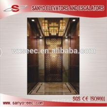 Ouro espelho elevador elevador de passageiros