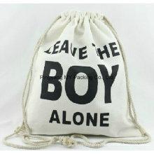 Customized Organic Drawstring Cotton Bag