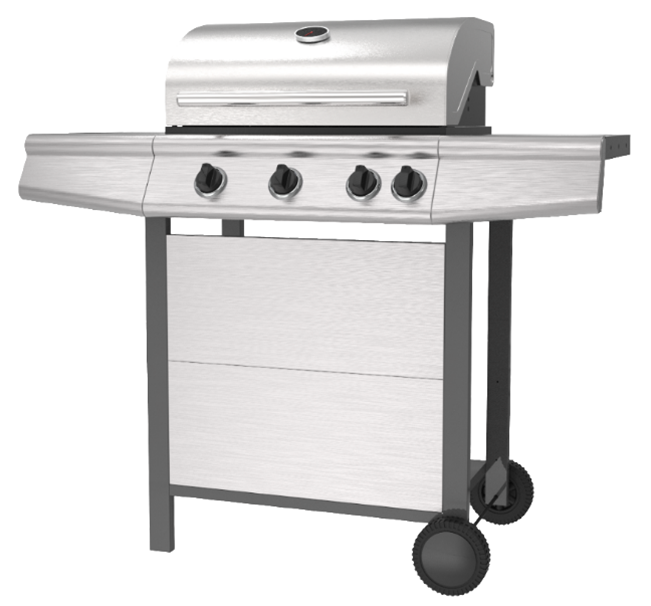 3 Burner Stainless Steel BBQ