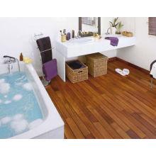 Flat surface solid teak wooden flooring indoor usage