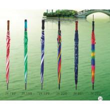 Auto Open Colorful Straight Umbrella (JY-197)
