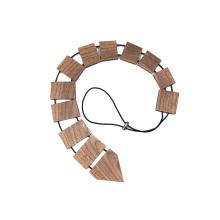Logotipo personalizado corbata de madera de los hombres de la nuez negra grabada