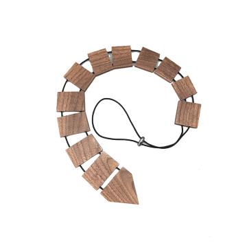 Собственный логотип выгравированы черный орех мужские деревянные галстук