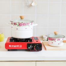 Olla de vapor de utensilios de cocina de esmalte