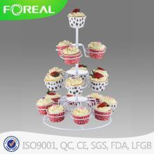 4-яруса 18PCS металлические Рождество Cupcake Стенд