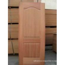 Puerta HDF / Piel blanca con grano de madera (PUERTA HDF)
