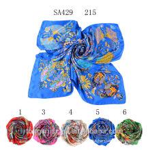 SA429 215 100% tecido de cetim de seda marca lenço 2015 100% seda hijab xale e scarvessupplier alibaba china