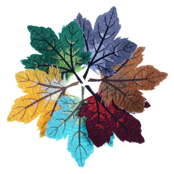 Colorful Maple Leaf Applique Embroidered Patches