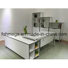 Set completo de escritorio ejecutivo blanco para el gerente (FOH-N1818-2)