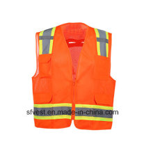 High -Visibility Refelective Safety Vest with Polyester Mesh