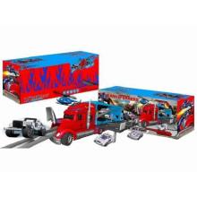 Die-Cast Estacionamento Lot Set Toy F / W Arraste Carro Principal / com Luz / Música / Use 3 * AA