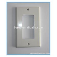 1-Gang Decora/GFCI Device Decora Wall plate, Standard Size, Thermoset, Device Mount, White