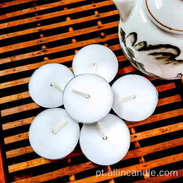 Vela de Tealight branco 12g Unscented 4 horas