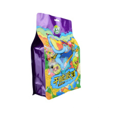 Transparent Nylon PE Laminated Top Sealed Packaging Plastic Bag with Notch Biscuits Snack Nuts Candy Pet Food Packaging