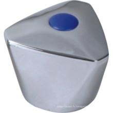 Poignée de robinet en plastique ABS avec finition chromée (JY-3040)