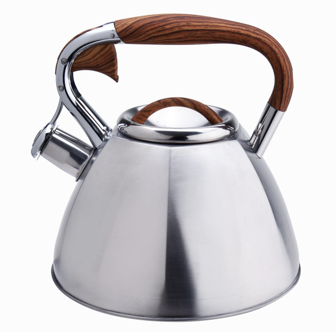 Wooden Handle Whistling Spout Kettles 421