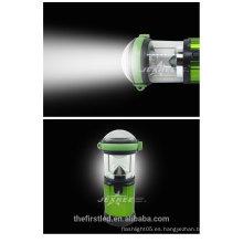2014 Nueva linterna de acampada portable del LED 500 luz de aluminio del alumbrador LED 4X 1.5V AA que acampa